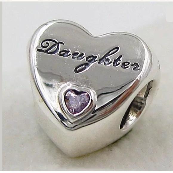 453889f0b Jewelry | Crystal Heart Daughter Charm Fits Pandora Bracelet | Poshmark